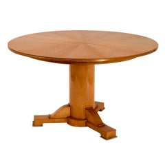 Jules Leleu, Sycamore center table, France, c. 1948