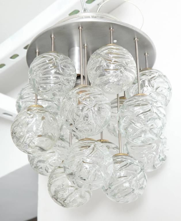 20th Century Glass Lollipop Flush Mount by Doria For Sale