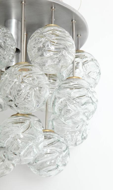 Blown Glass Glass Lollipop Flush Mount by Doria For Sale