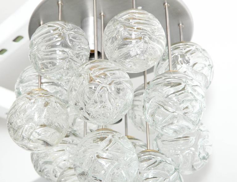 Glass Lollipop Flush Mount by Doria In Excellent Condition For Sale In New York, NY