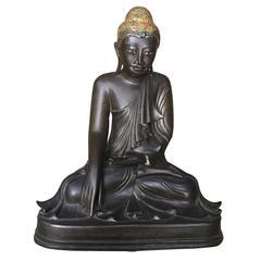 Burmese Tall  Hand cast Gilt Bronze 19th Century Buddha, Fine Garden Choice