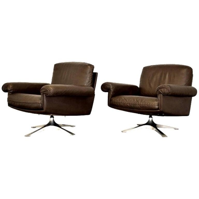 Vintage de Sede DS 31 Lounge Swivel Armchairs, 1970s