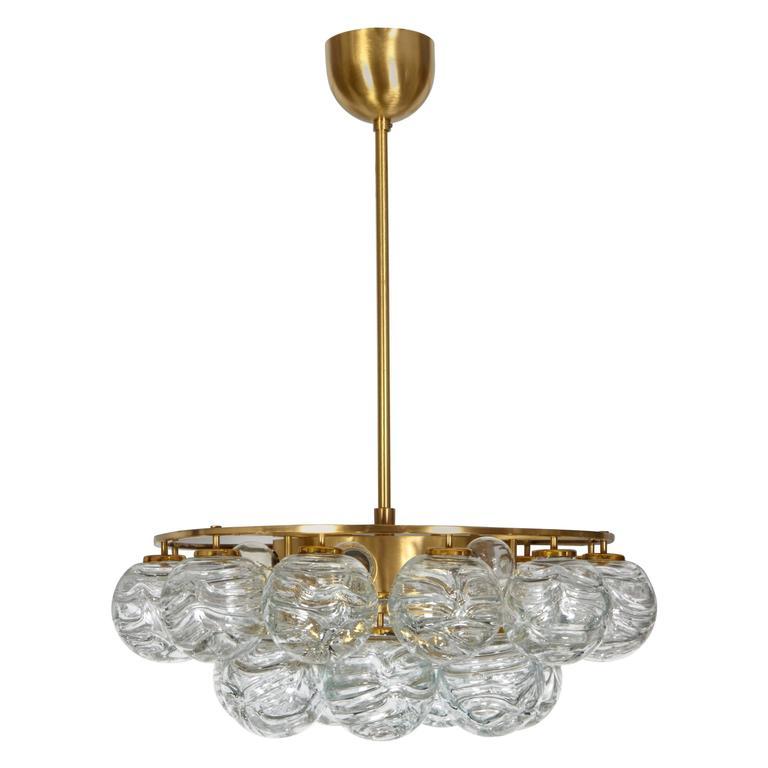 Doria Glass Sphere Pendant Chandelier For Sale