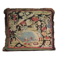 HOLIDAY SALE: 18th Century French Tapestry Decorative Pillow