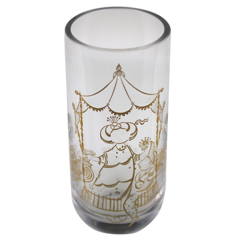Peacock vases 43 for sale on 1stdibs rare bjorn wiinblad crystal vase 22k etched charming design signed reviewsmspy
