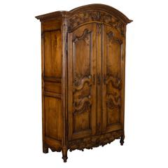 18th Century Louis XV Country French Armoire