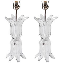 1970's Murano Glass Sculptural Lamps