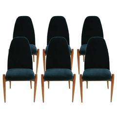 Set of Six Italian Chairs