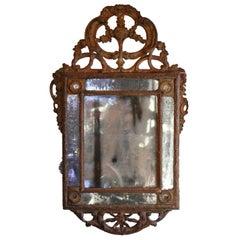 17th Century Italian Rococo Giltwood Mirror