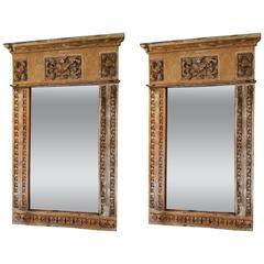 17th Century Portuguese Altar Fragment Mirrors
