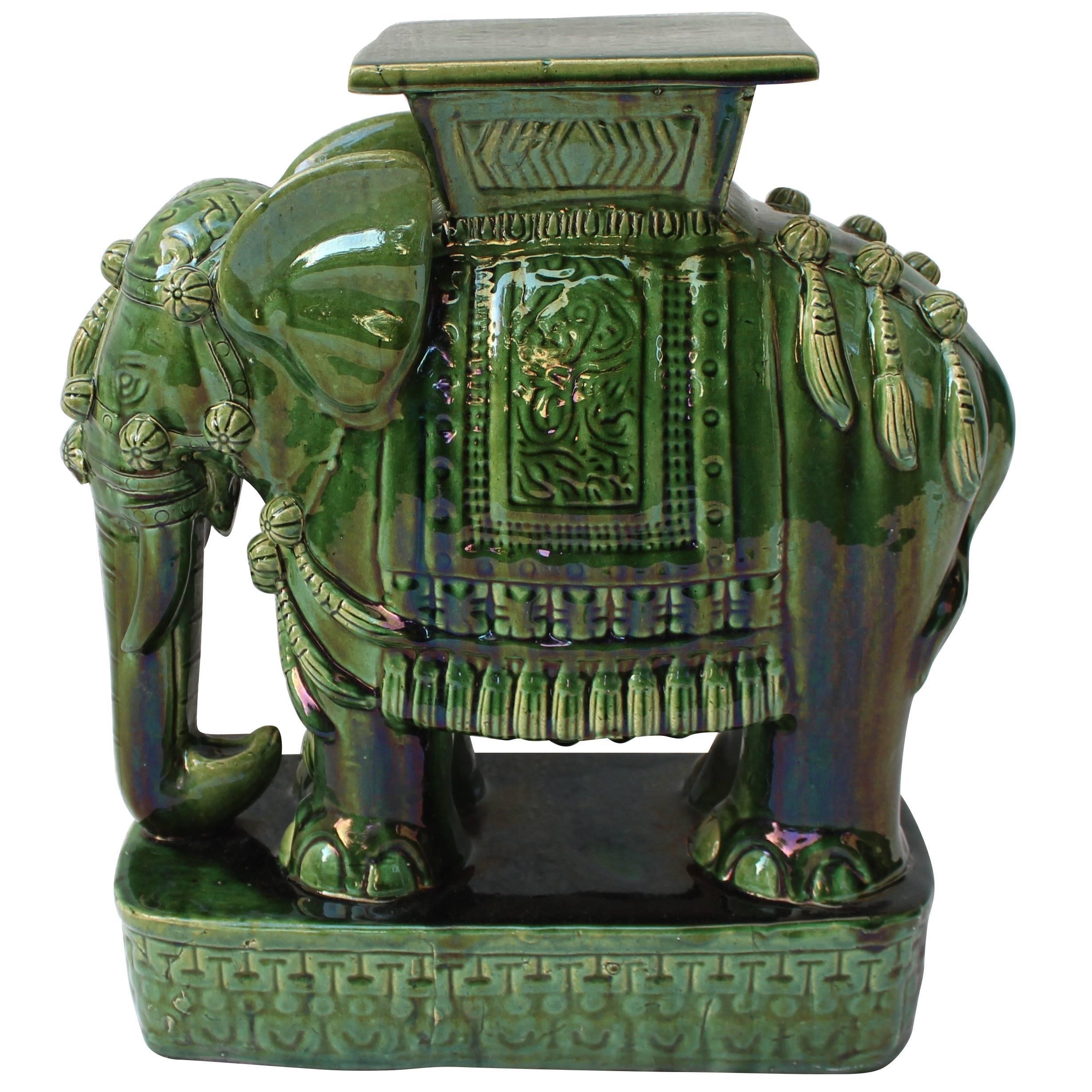 Chinese Ceramic Elephant Garden Table