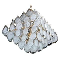 Italian Murano Glass Pyramid Chandelier by Vistosi