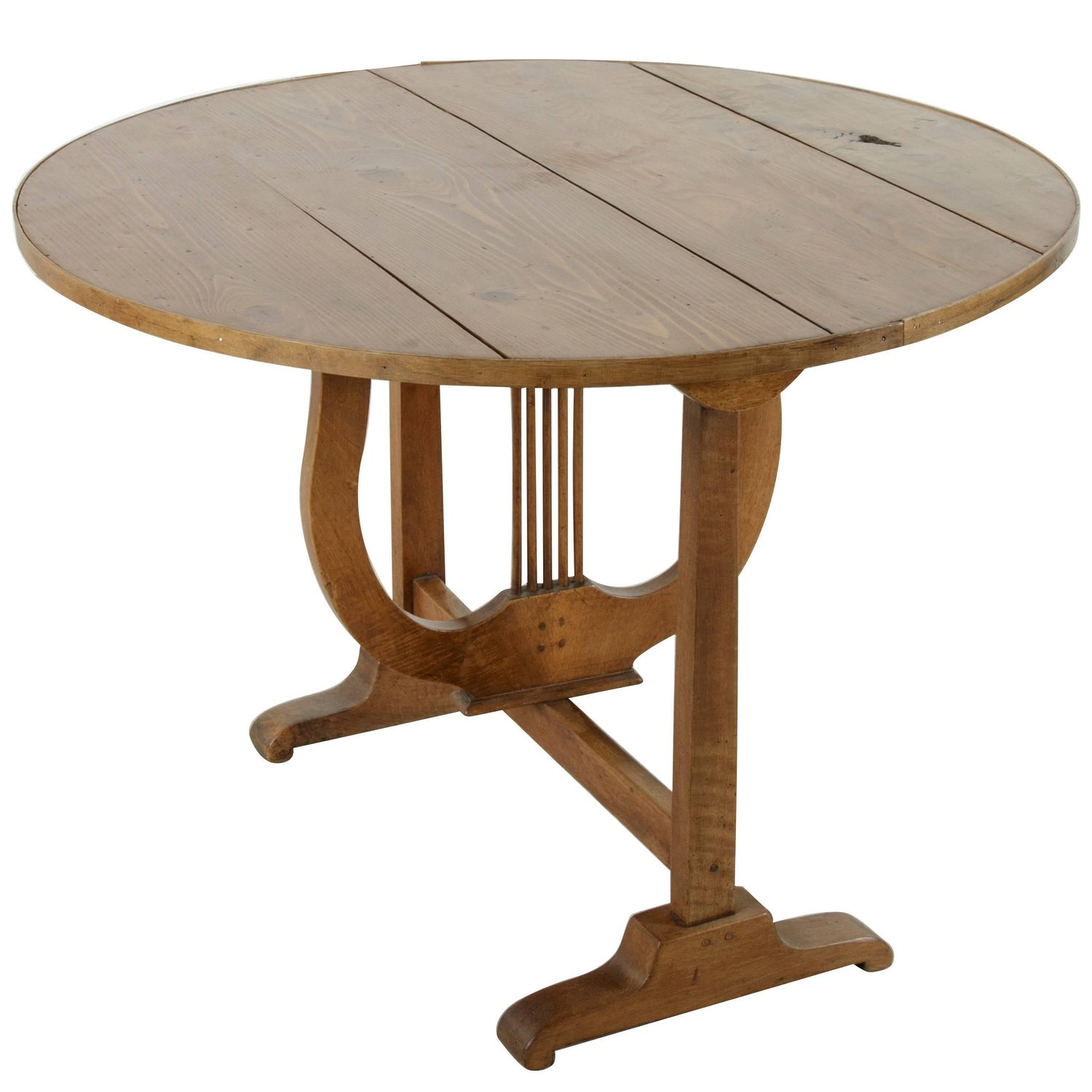 19th century french hand pegged walnut vineyard table or wine 19th century french hand pegged walnut vineyard table or wine tasting table for sale at 1stdibs geotapseo Image collections