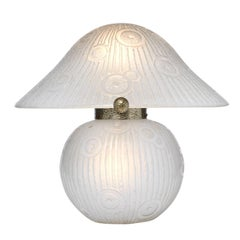 Mushroom Lamp by Daum, circa 1930