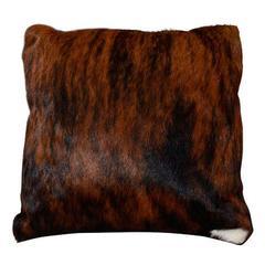 Custom Brindle Cowhide Pillow