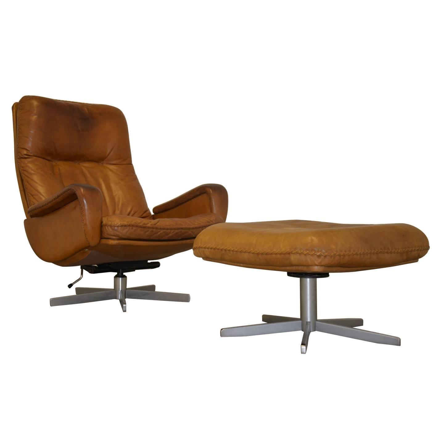 Vintage De Sede S 231 James Bond Swivel Lounge Armchair with