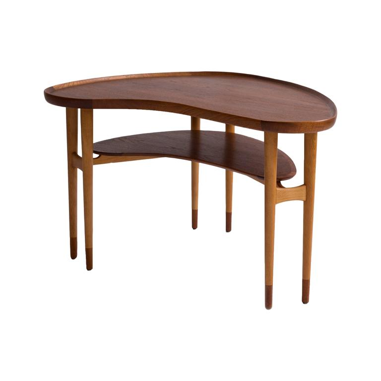Arne Vodder Kidney Shaped Coffee Table, 1950s 1