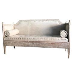 Swedish Early Gustavian Period Sofa in Original Paint, 18th Century Antique