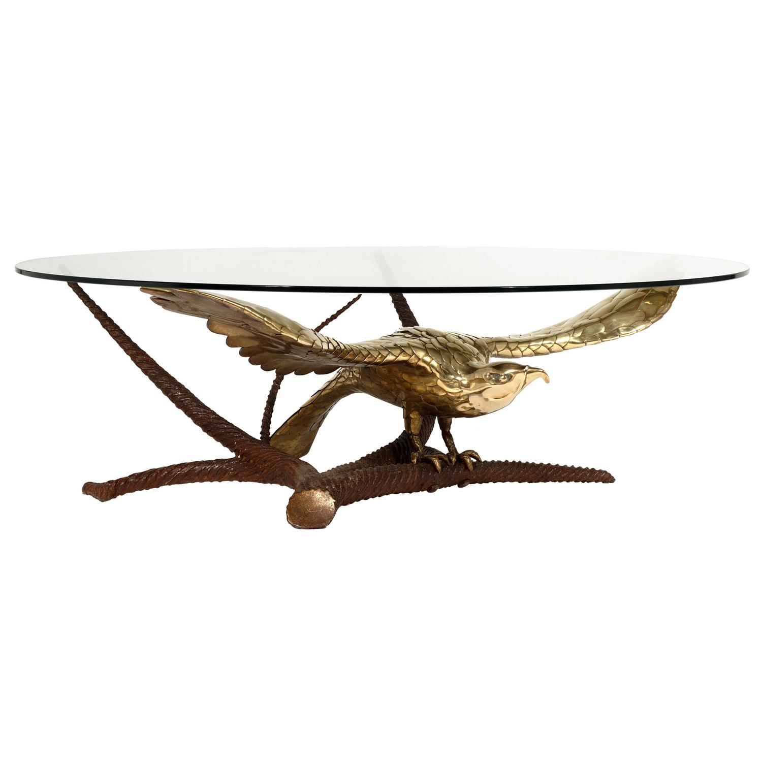 Eagle Coffee Table by A Chervet circa 1970 For Sale at 1stdibs