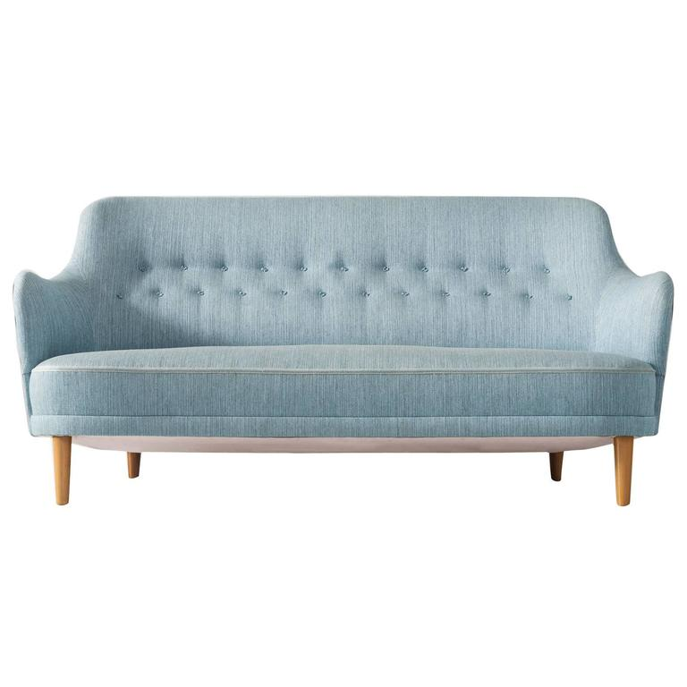 Carl malmsten 39 samsas 39 sofa in blue fabric upholstery for sale at 1stdibs Carl malmsten sofa