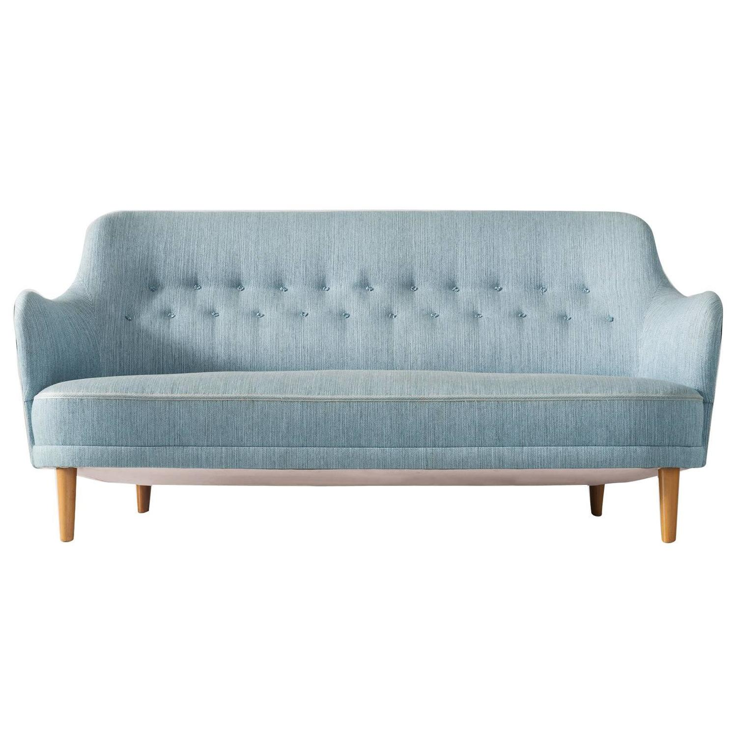 Tailor Lounge Sofa by Rui Alves in Natural Oak with Fabric or