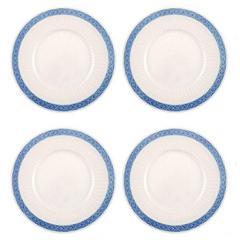 Four Pieces Royal Copenhagen Blue Fan Lunch Plate