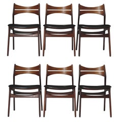 Erik Buch Rosewood Dining Chairs, Set of 6