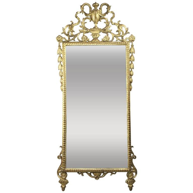 Italian Neoclassic Giltwood Mirror