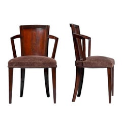 Pair of Fine French Art Deco Chairs by Pierre Chareau