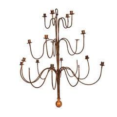 Single Iron Chandelier