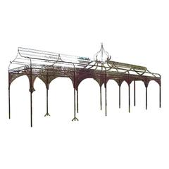 Ordinaire Mid Victorian Moorish Wrought U0026 Cast Iron Pergola Or Decorative Garden  Structure