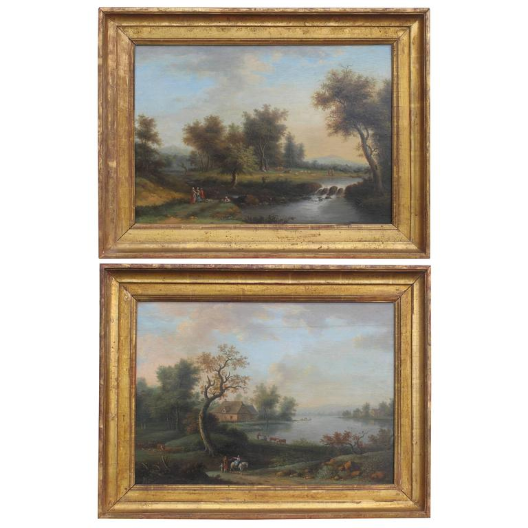 Pair of late 18th/early 19th Century Landscape Paintings