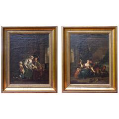 Pair of 18th Century Interiors