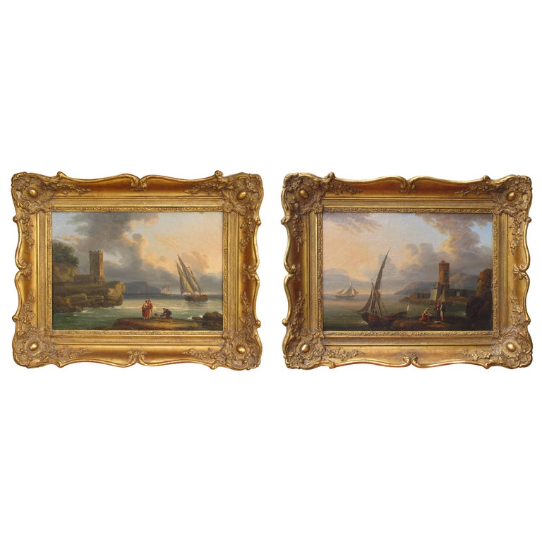 18th-19th Century Pair of Paintings For Sale