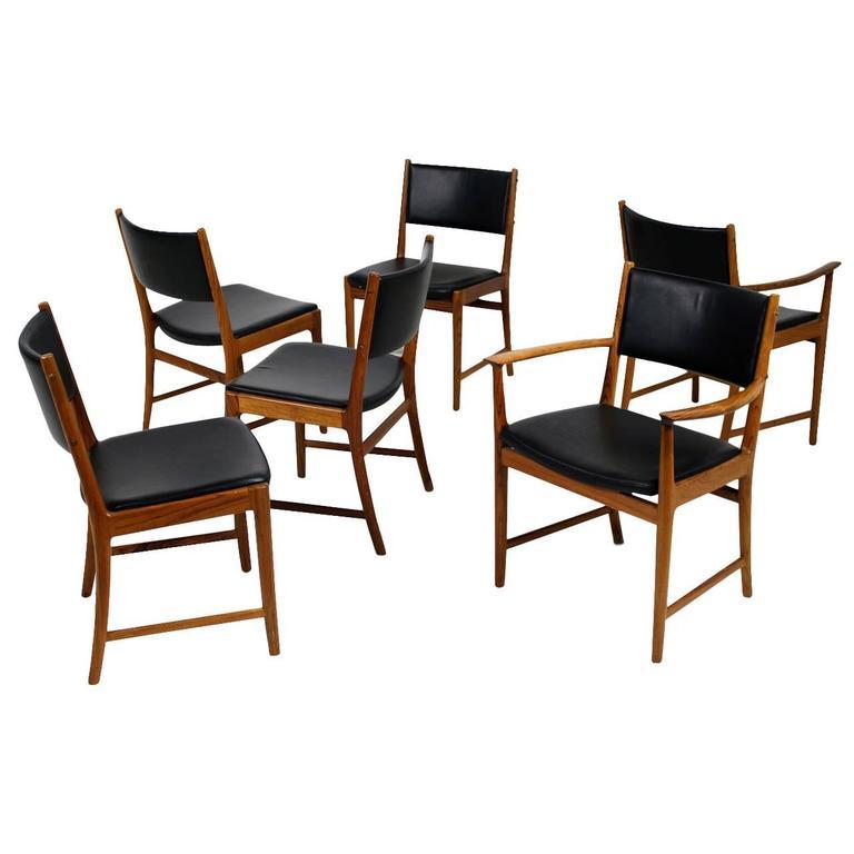 Superior Six Rosewood Chairs Kai Lyngfeldt Larsen For Søren Willadsen, Denmark,  1960s 1