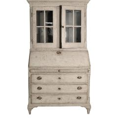 19th Century Swedish Gustavian Secretary Cabinet Buffet Vitrine