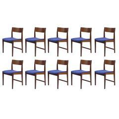 10 Danish Midcentury Teak Dining Chairs