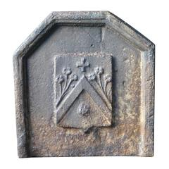 17th Century French Coat of Arms Fireback