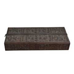 Early 20th Century Tooled Leather Box from Morocco