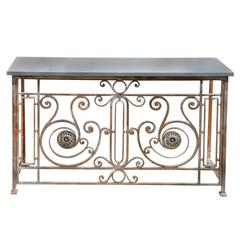 Antique French Steel Console