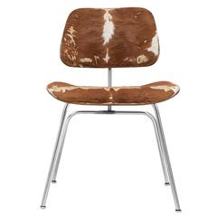 Eames Slunk Skin-Upholstered DCM Dining Chair