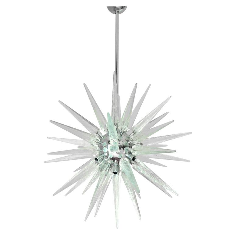 Italian Murano Glass Shards Sputnik Chandelier