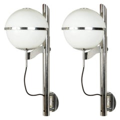 Pair of Globe Sconces by Sergio Mazza