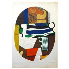 Abstract 1970s French Lithograph, Max Papart