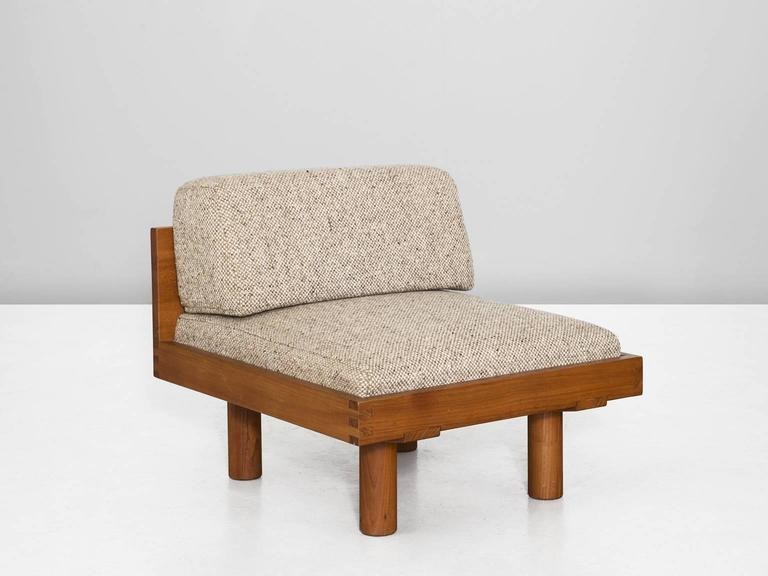 Pierre Chapo Set Of Three Modular Chairs For Sale At 1stdibs