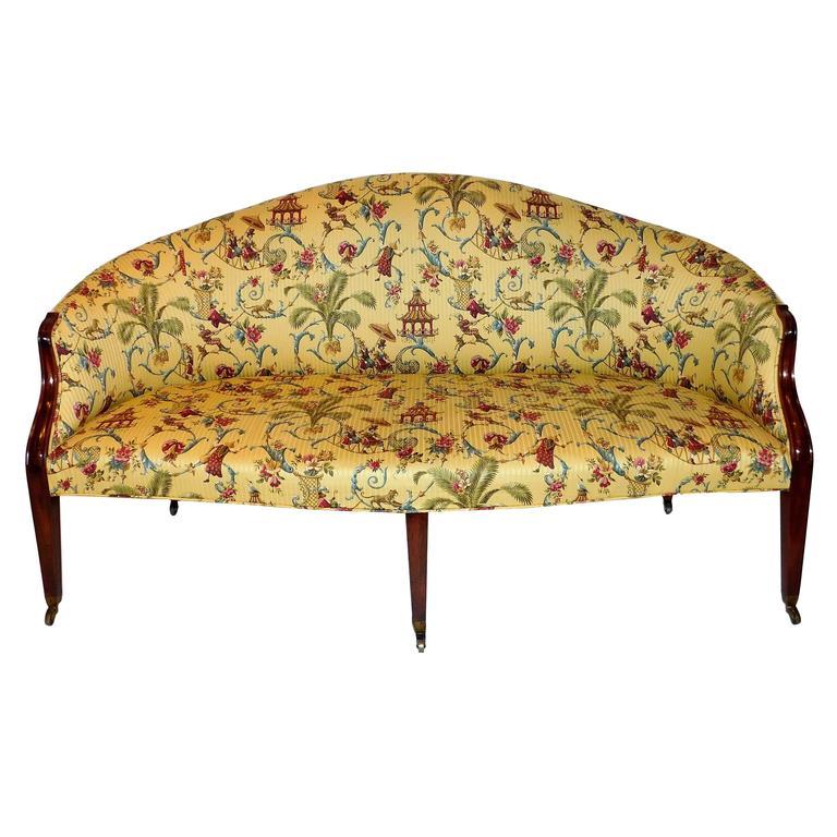 Edwardian Hepplewhite Style Sofa, England, circa 1910 For Sale