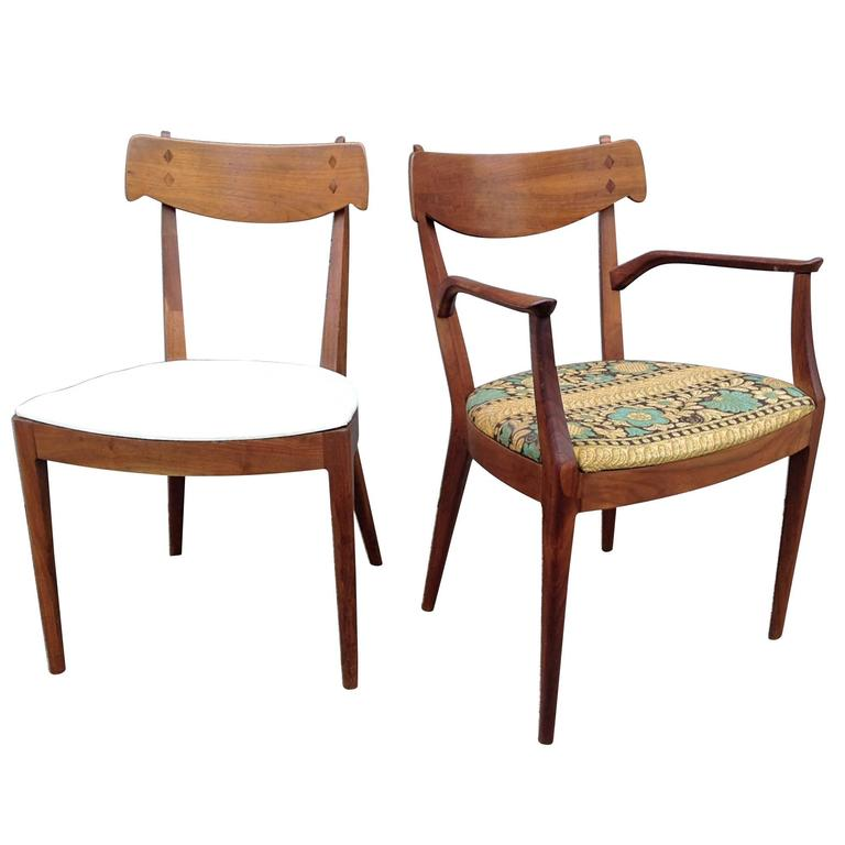 stewart macdougall for drexel set of eight dining chairs