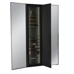 ETHER ATELIER Portal Tri-Fold Black Steel Dressing Mirror, Wall mounted