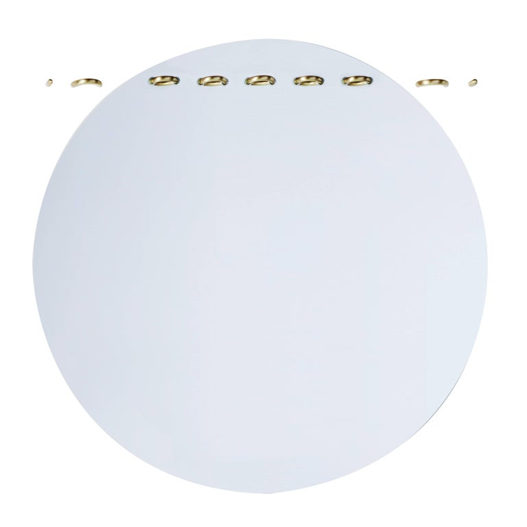 Sewn Surfaces Mirror/Round  For Sale