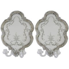 Pair of Venetian Mirror Sconces